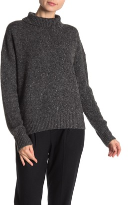 Vince Speckled Knit Wool Blend Turtleneck Sweater