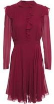 Giambattista Valli Ruffle-trimmed Silk-georgette Mini Dress