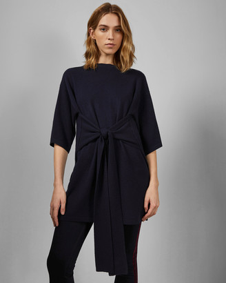 Ted Baker OLYMPY Tie front knitted tunic