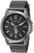 U.S. Polo Assn. Classic Men's Quartz Metal and Alloy Automatic Watch, Color:Black (Model: USC80384)