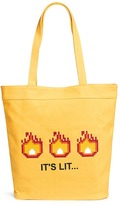 Mostly Heard Rarely Seen 'It's Lit' rubber appliqué tote bag
