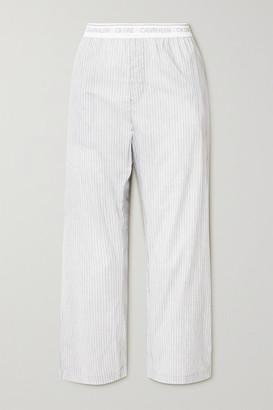Calvin Klein Underwear Striped Cotton-voile Pajama Pants - White