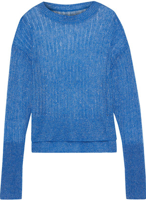 RtA Gilda Metallic Open-knit Sweater