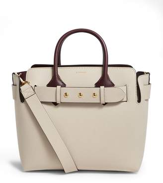 Burberry Small Leather Belt Tote Bag