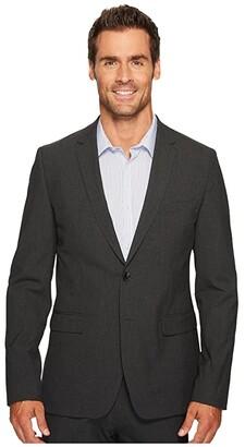 Calvin Klein Slim Fit Two-Button Notch Lapel End on End Bi-Stretch Infinite Style Jacket (Iron Gate) Men's Coat