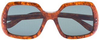 Gucci Tortoiseshell Oversized Square Sunglasses