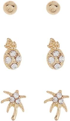 Area Stars Fine Stud Earrings - Pack of 6