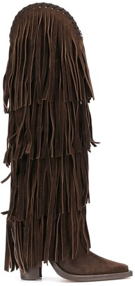 DSQUARED2 Fringed Knee-Length Boots