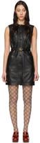 Gucci Black Leather Dress