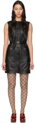 Gucci Black Leather Dress