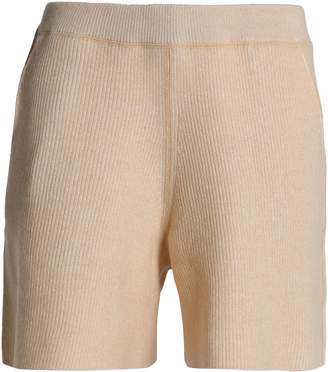 See by Chloe Ribbed Wool And Cotton-blend Shorts