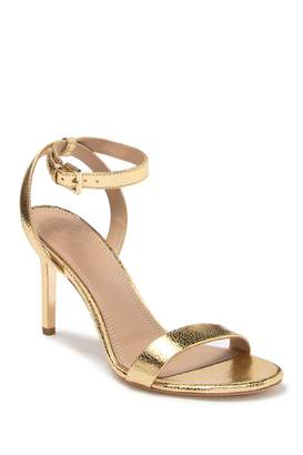 Tory Burch Elana Crackle Leather Ankle Strap Sandal
