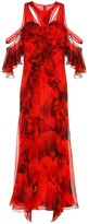 Alexander McQueen Printed silk crepe maxi dress