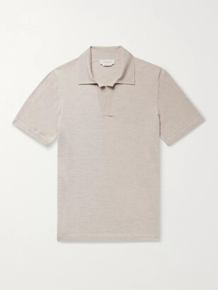 Gabriela Hearst Stendhal Melange Cashmere Polo Shirt