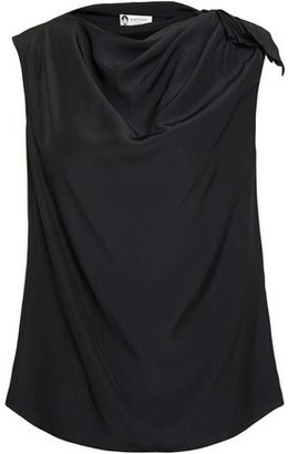Lanvin Draped Button-embellished Cady Top