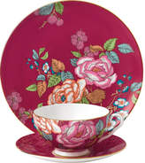 Wedgwood Raspberry tea garden 3-piece china set