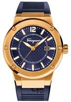 Salvatore Ferragamo Men's 'F-80' Rubber Strap Watch, 44Mm