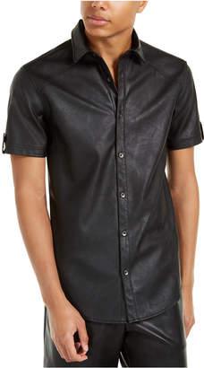 INC International Concepts Inc Men Faux Leather Shirt