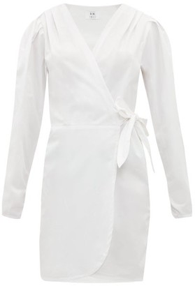 Sir - Blair Cotton-poplin Mini Wrap Dress - Womens - White