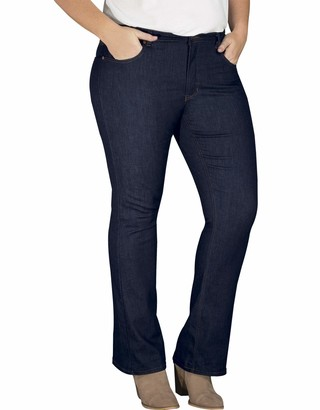 Dickies Women's Perfect Shape Denim Jean - Bootcut Stretch Plus Size