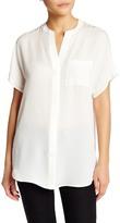 Vince Split Neck Silk Shirt