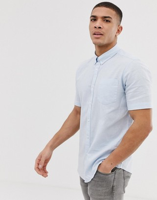 French Connection short sleeve linen shirt-Blue