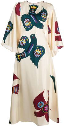 La DoubleJ Sorella flared-sleeves dress