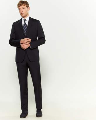 Versace Two-Piece Blue Wool Pinstripe Suit