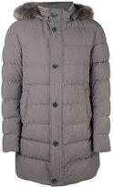 Herno fur-trimmed padded coat