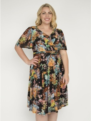 M&Co J by Jolie Moi printed fit and flare dress
