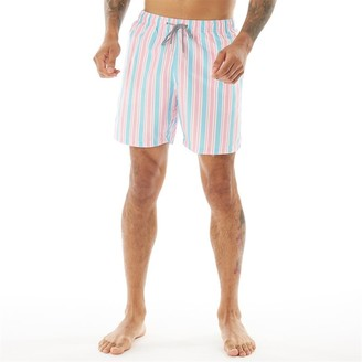 Boardies Mens Candy Stripe Mid Length Shorts Multi
