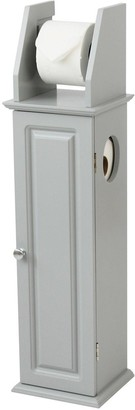 Lloyd Pascal Devonshire Toilet Roll Holder and Store - Painted Grey