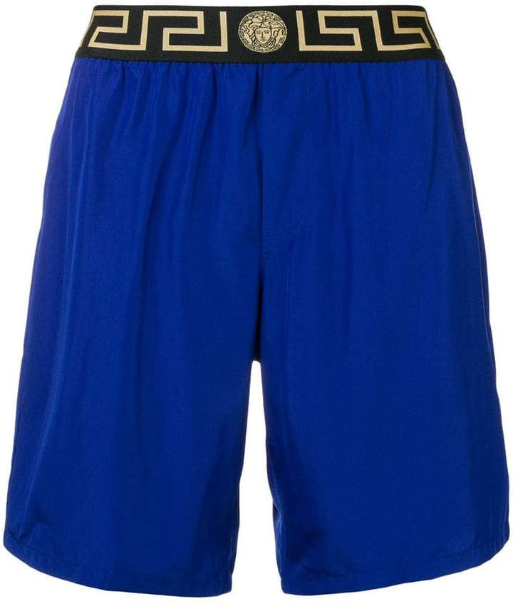Versace printed logo swim shorts