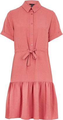 New Look Mid Drawstring Waist Tiered Shirt Dress