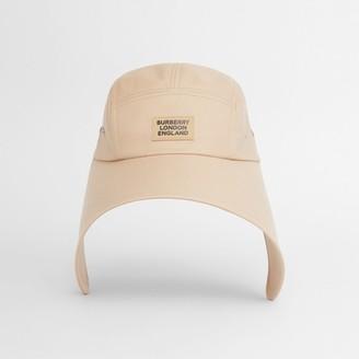 Burberry Logo Applique Cotton Twill Bonnet Cap
