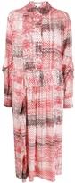 Lala Berlin mixed pattern pleated shirt dress