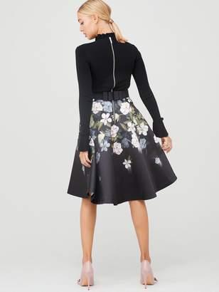 Ted Baker Nerida Opal Printed Full Skirted Dress - Black