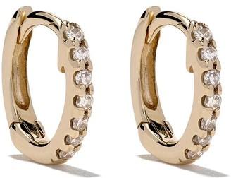 Dana Rebecca Designs 14kt Yellow Gold Mini Huggie Diamond Earrings