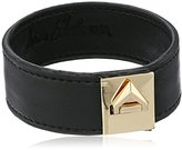 Sam Edelman Narrow V Lock Leather Bracelet