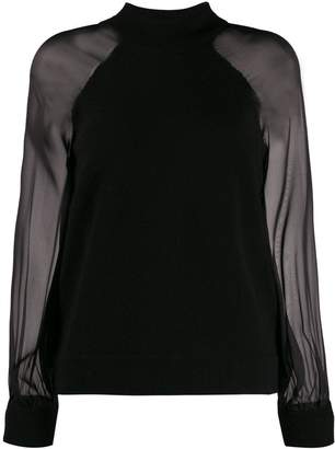 FEDERICA TOSI sheer sleeve jumper