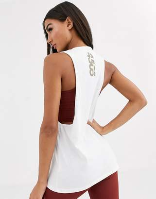 Asos 4505 4505 drop armhole tank in cotton touch
