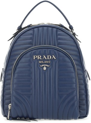 Prada Logo Plaque Quilted Backpack