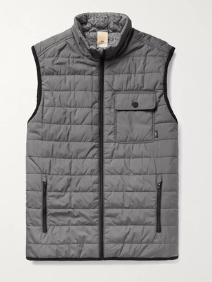 Faherty Atmosphere Slim-Fit Reversible Quilted Padded Shell And Melange Jersey Gilet