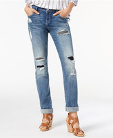 INC International Concepts Curvy Ripped Boyfriend Jeans, Created for Macy's
