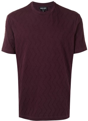 Giorgio Armani raised chevron T-shirt