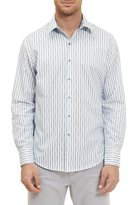 Robert Graham Vignesh Striped Sport Shirt, White