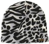 Nicole Miller Women's Beanie With Mixed Animal Print