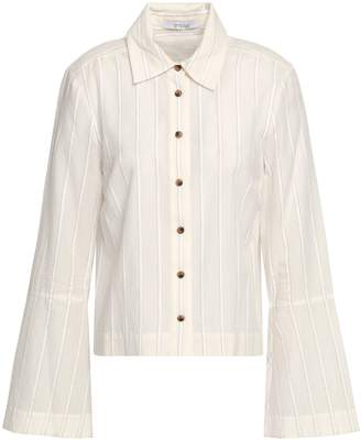 Derek Lam 10 Crosby Striped Cotton-blend Shirt