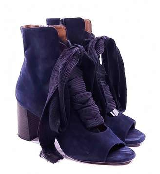 Chloé \N Blue Suede Ankle boots