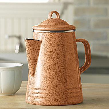Paula Deen 8-Cup Porcelain Enamel Percolator